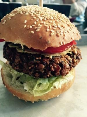 Vegan Burger di lenticchie e farro